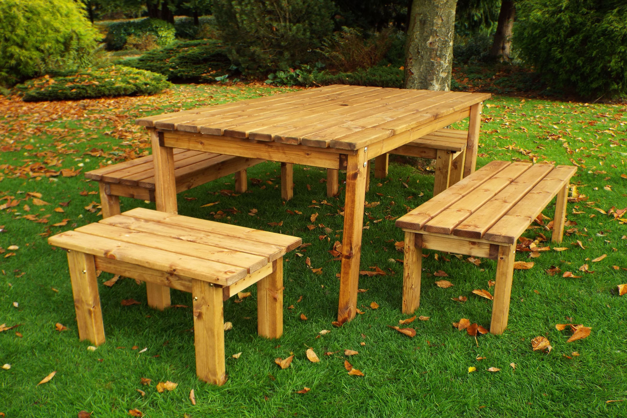 Excellent 8 Seater Outdoor Wooden Garden Table Bench Dining Set Solid Wood Patio Decking Furniture Download Free Architecture Designs Sospemadebymaigaardcom