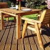 Wooden Outdoor 2 Seater Dining Set - Solid Wood Patio Decking Furniture
