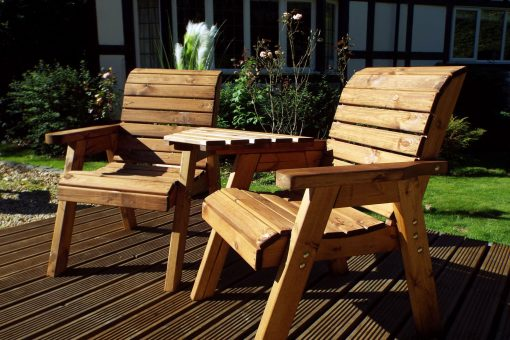 Twin Companion Garden Seat - Love Seat Bench - Tete a Tete Seats - Outdoor Patio Solid Wood Garden Furniture
