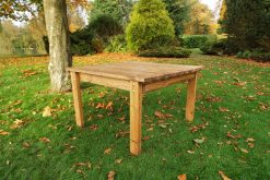 2 Seater Wooden Outdoor Table - Solid Wood Patio Garden Furniture