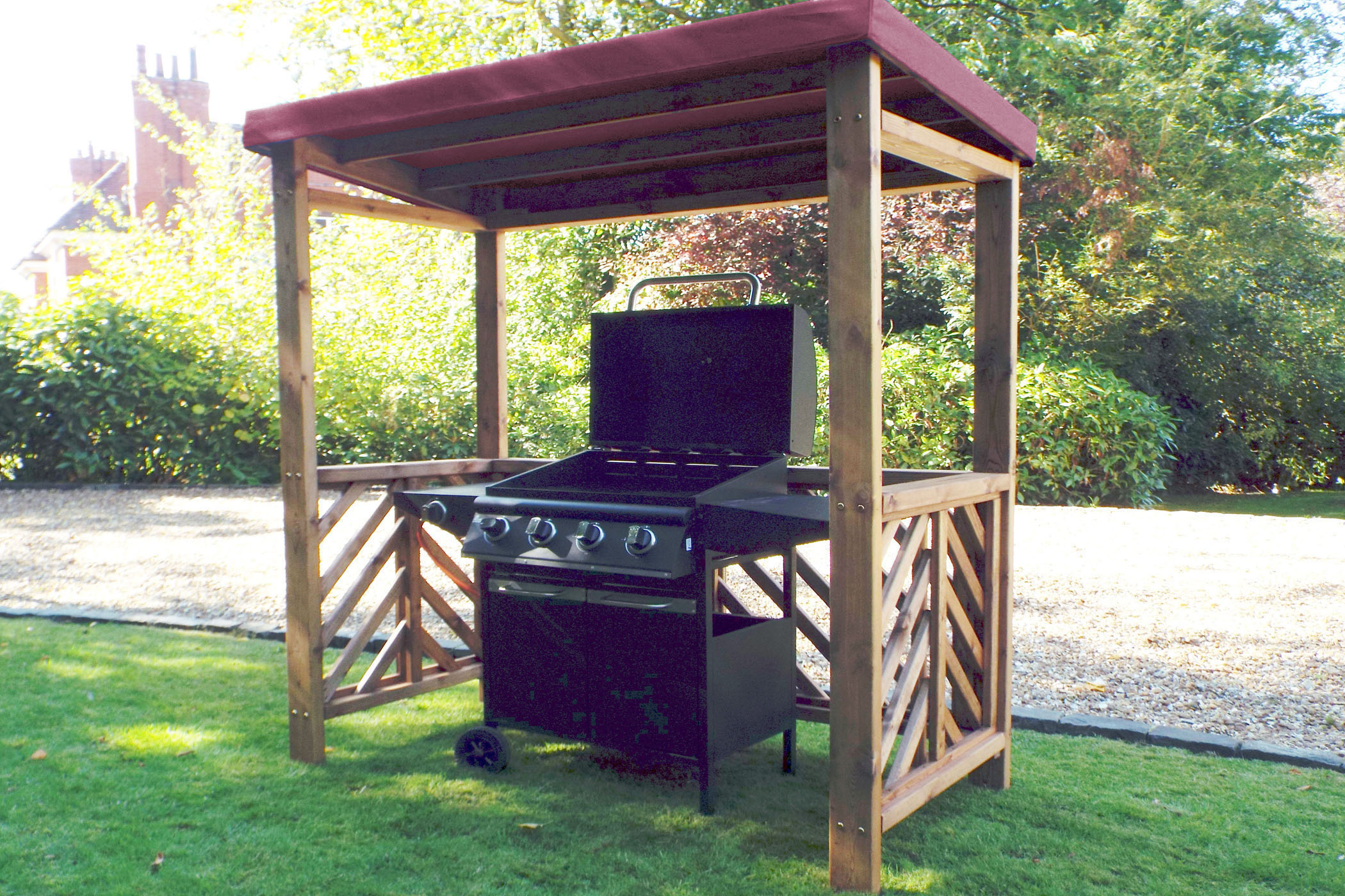 Buy Now Wooden Bbq Shelter Garden Bbq Shelter