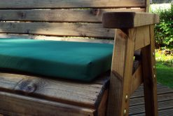 Wooden 2 Seater Bench with Arm Rests - Solid Wood Patio and Garden Furniture