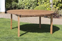 8 Seater Round Outdoor Wooden Table - Solid Wood Patio Garden Furniture