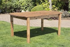6 Seater Outdoor Wooden Table - Solid Wood Patio Garden Furniture
