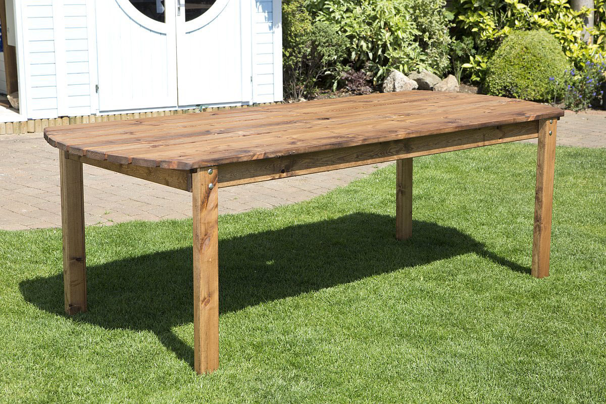 8 Seater Wooden Garden Table Solid Wood Outdoor Patio Decking Furniture