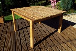 8 Seater Wooden Outdoor Table - Solid Wood Patio Garden Furniture