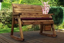 Bench Rocker - Wooden Bench Rocker  - Wooden Garden Rocking Bench