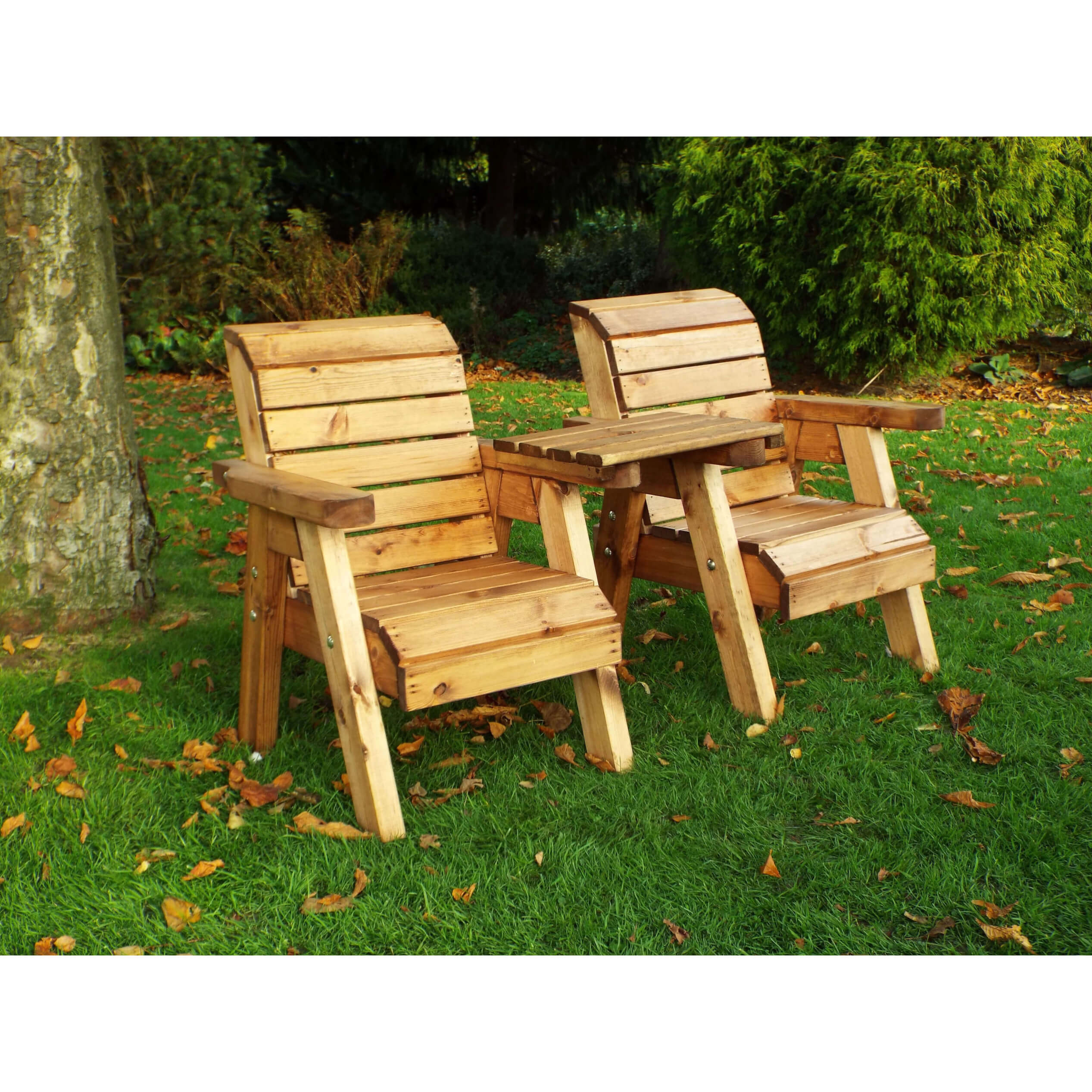 Childrens Outdoor Wooden Companion Seats - Solid Patio ...